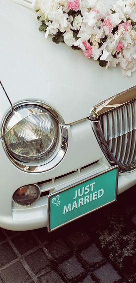 display banner 'just married'